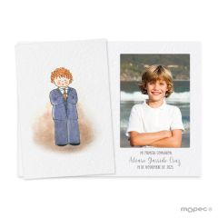 Photoframe Communion boy curly hair