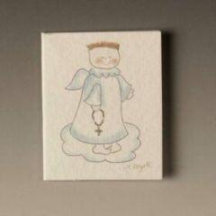 Tarjeta librito comunión ángel y nube preciox100u.