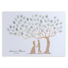 Wedding guest fingerprint tree of life 29,5x42cm
