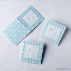 Tarjeta biberón azul R/T/C preciox102uds