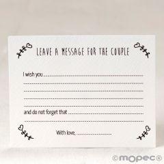 Biglietto messaggio personalizzabile con fiori 11x8,5cm
