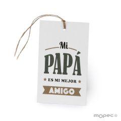 Biglietto Mi Papá es mi mejor Amigo con cordoncino