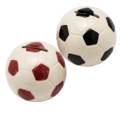 Hucha pelota 8cm. roja y negra stdo., min.2