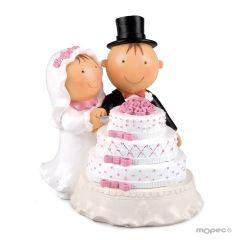 Figura para tarta Pit & Pita Pastel 16 cm