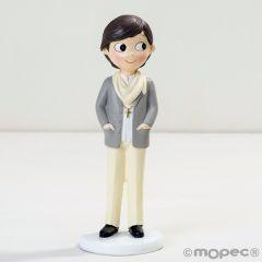 Figura niño Comunión con foulard 16,5cm.