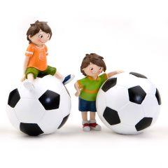 Figura pastel y hucha futbolista 20/15cm.(alto), min.2