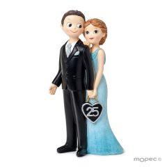 Figura boda aniversario 25años Pop&Fun, 21cm,