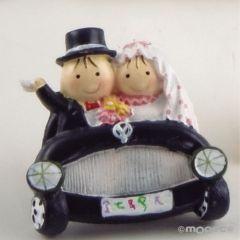 Pit&Pita novios en coche imán+anilla 5cm min.12