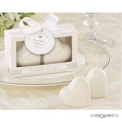 Set salero y pimentero Corazón en caja regalo
