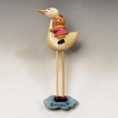 Pita on stork with magnet-ring 7cm