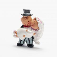 Pit&Pita novia en brazos imán+anilla 5cm., min12
