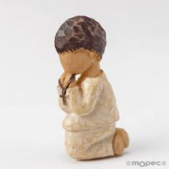 Boy Communion wood effect magnet 5,5cm SWEET PRICE