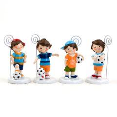 Portafotos futbolista 4modelos 10,5cm., min.4