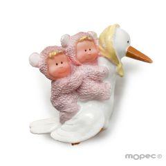 Twin baby girl on stork 6cm