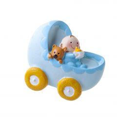 Imán de bebé Pit en cochecito+anilla 5x5cm, min12