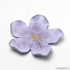 Plat moyen fleur lilas 17cm