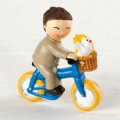 Imán niño Comunión en bici 4,5x5cm. min.12