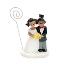 Wedding couple with flowers cardholder 9,5cm
