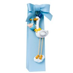 Pit on stork blue hat magnet 5 sugar-coated chocolats