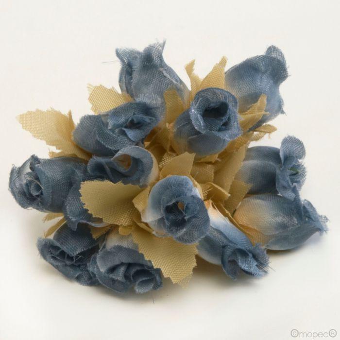 Mazzolino Di Rose Blu Prezzo X 12 Unitá