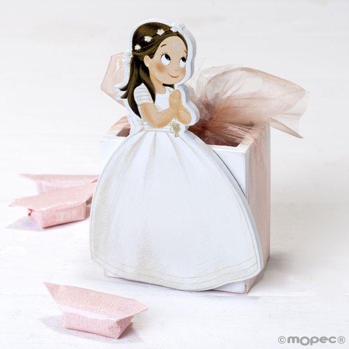 Vestido largo caramelo